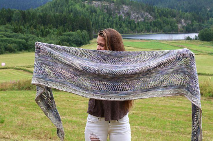 Bonfire shawl.