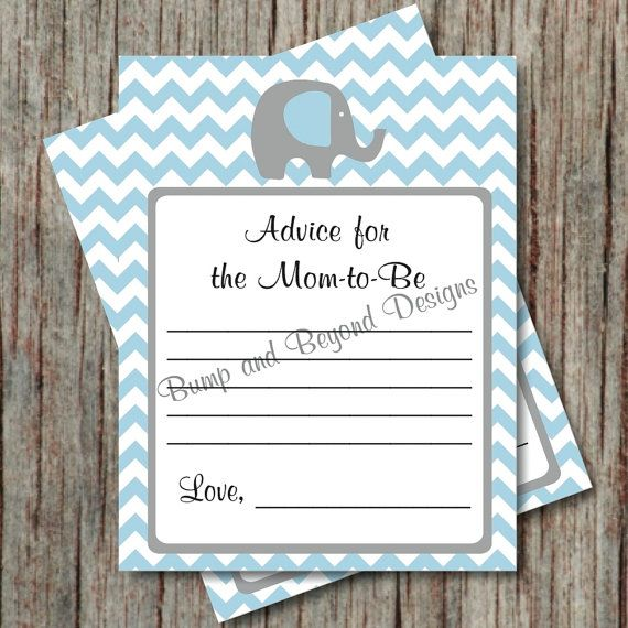 Baby Advice Cards Baby Shower by BumpAndBeyondDesigns, $4.00