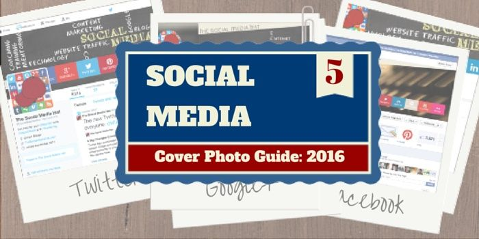 Facebook, Google+, Twitter, LinkedIn, YouTube, Pinterest and Blab all feature the option for a custom cover photo, but they all have different cover photo dimensions and size requirements. Find out what to use and how to create them.