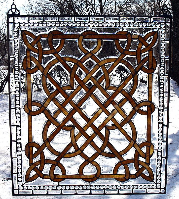 Celtic stained glass design ideas patterns pinterest - Amazing stained glass fireplace screen designs with intriguing patterns ...