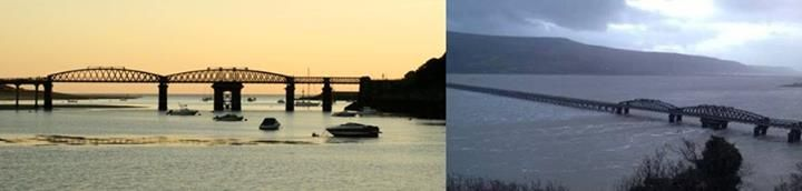 Comparison photo showing just how high the tide / surge was at Barmouth Photo courtesy of Shirley Worth