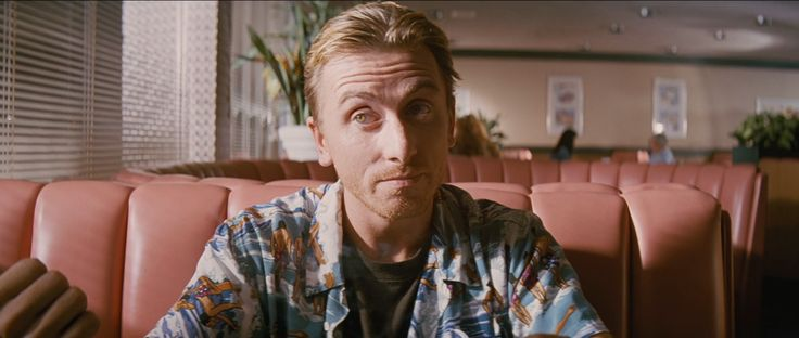 Tim Roth as Pumpkin/Ringo in Pulp Fiction. Details: http://observer.com/2014/10/every-single-amazing-90s-look-from-pulp-fiction-in-order-of-appearance/