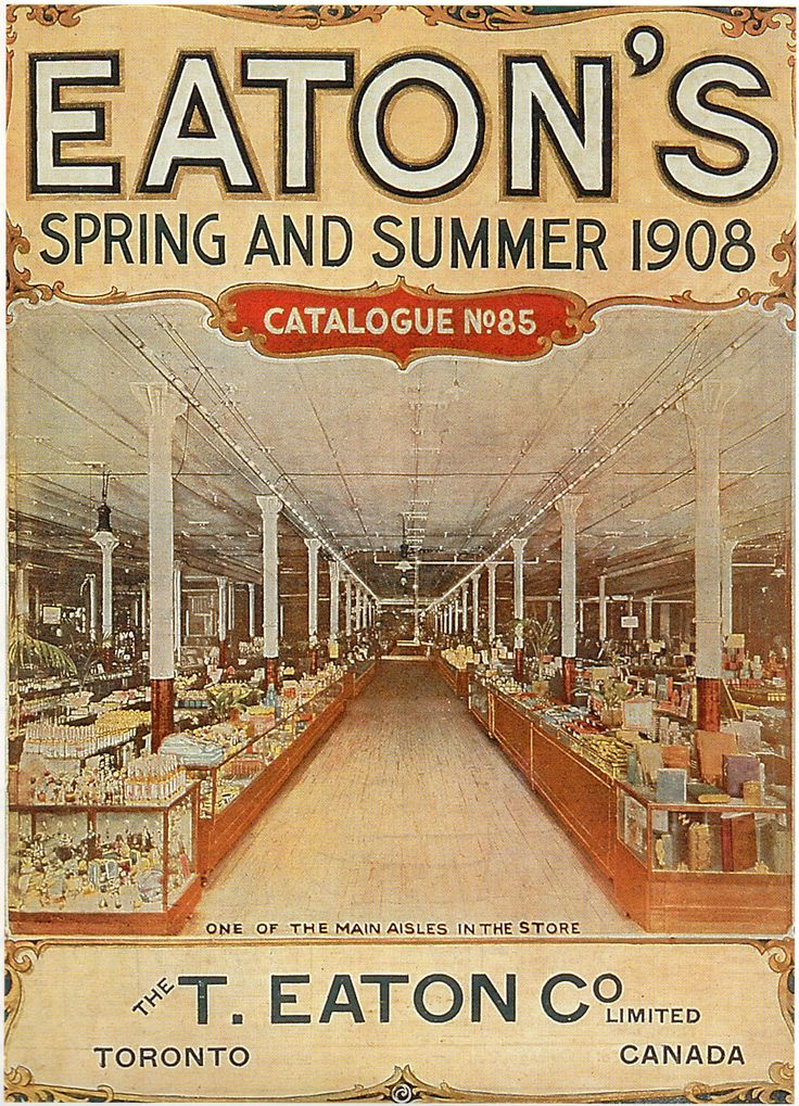 Eaton's Spring and Summer 1908 Catalogue No. 85 (The T. Eaton Co. Limited) Scan from 1994 Eaton's calendar.