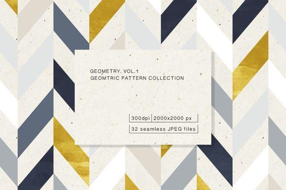 Geometric Pattern Collection by Irtsya on @creativemarket