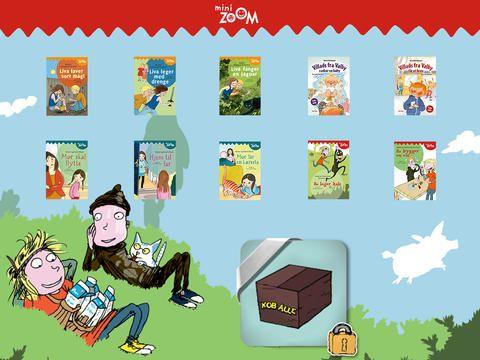 Læs selv 1 er mini zoom bøgerne, den første  bog Liva laver sort magi er gratis. Der er også Villads fra Valby.