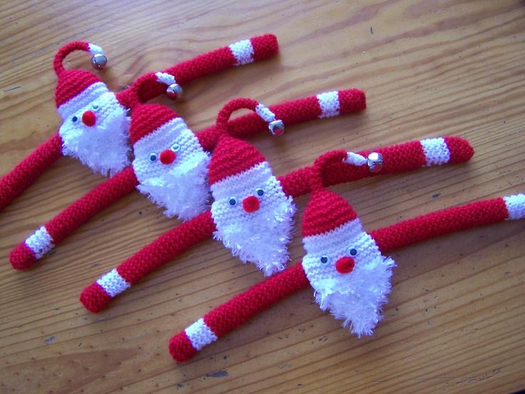 Knit Santa Hangers.