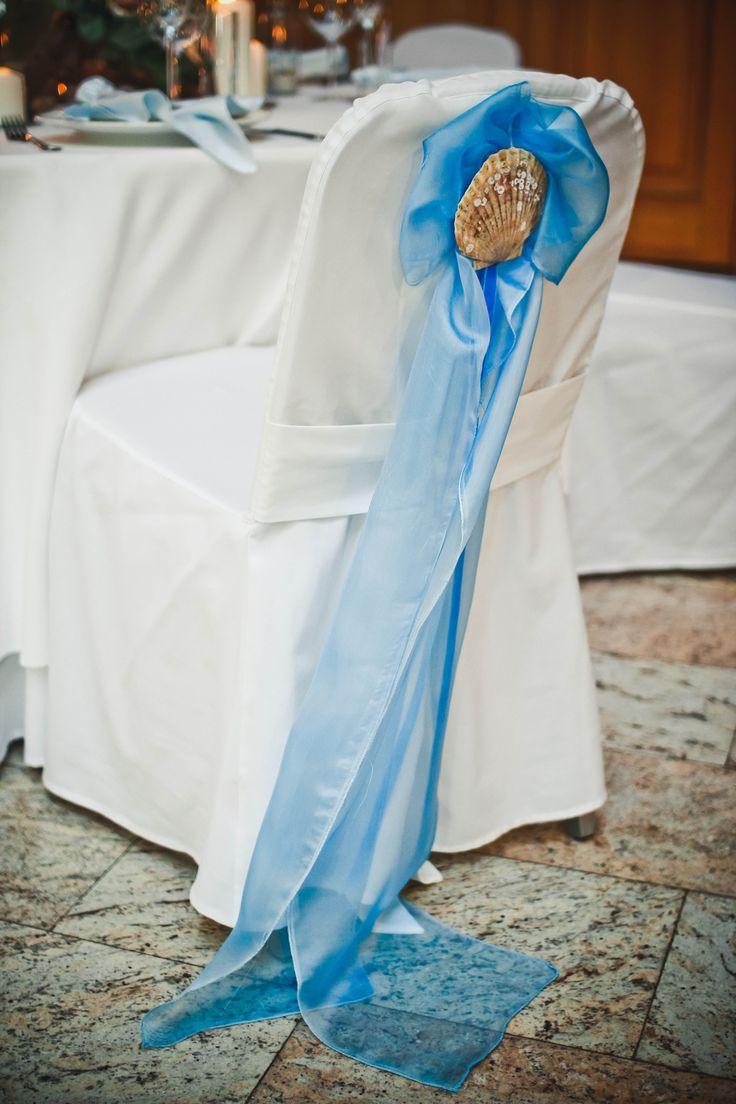 chairs decor. sea wedding theme