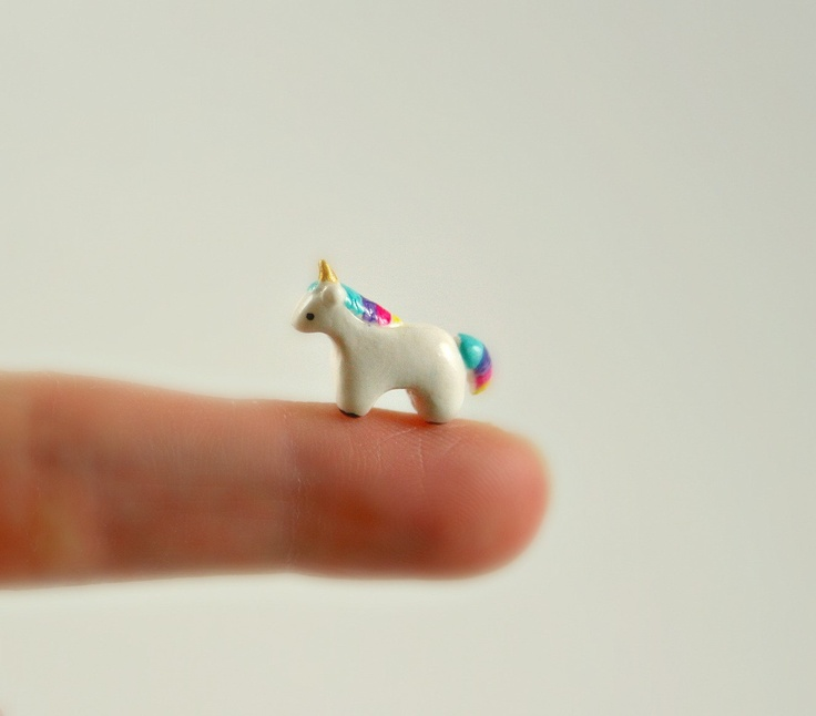 Polymer Clay Animals | Micro Unicorn Hand Sculpted Miniature by MadeWithClayAndLove