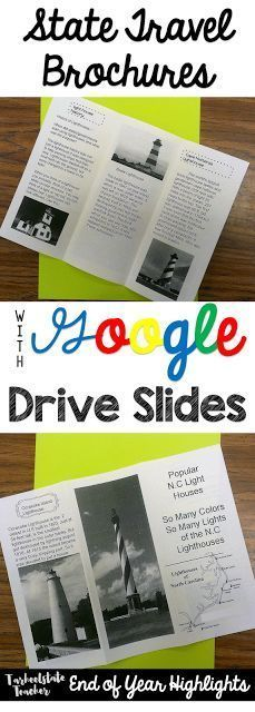 State Travel Brochures Writing and Research Project using Google Drive/Google Classroom with 4th and 5th graders (writing + social studies)
