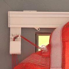 Карниз для римской шторы Мини. Идеально подходит для монтажа римской шторы на створку окна, межкомнатную дверь. Профиль используют также для панелей японских штор и в качестве ламбрикенной планки