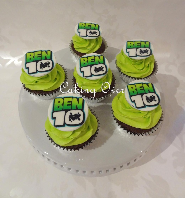 Ben10 themed cupcakes {chocolate mud with hazelnut buttercream}