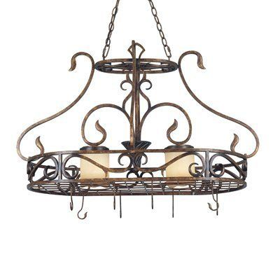 They exist! pot rack light fixture cabin | Home > Plumbing Fixtures > Pot Racks > Traditional Pot Racks > Kenroy ...