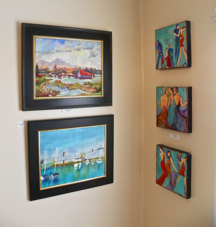 The Art Cottage Artists: Maria SantoStefano (top left), Margaret Lucas (bottom left), Zarmine Aghazarian (right) Photo ©Lisa Fulmer