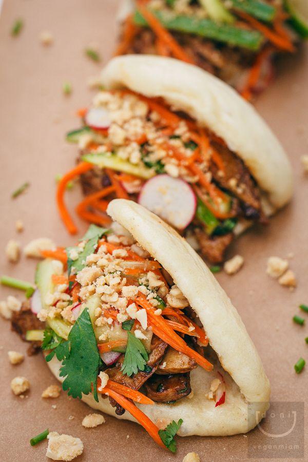 almost braised chickenfree vegan gua bao vegan miam