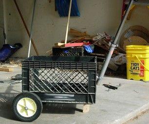 how to build a wooden garden cart