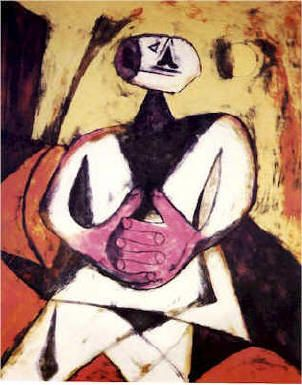 Rufino Tamayo (August 26, 1899 – June 24, 1991) was a Mexican painter of Zapotec heritage, born in Oaxaca de Juárez, Mexico. Tamayo was active in the mid-20th century in Mexico and New York, painting figurative abstraction with surrealist influences.