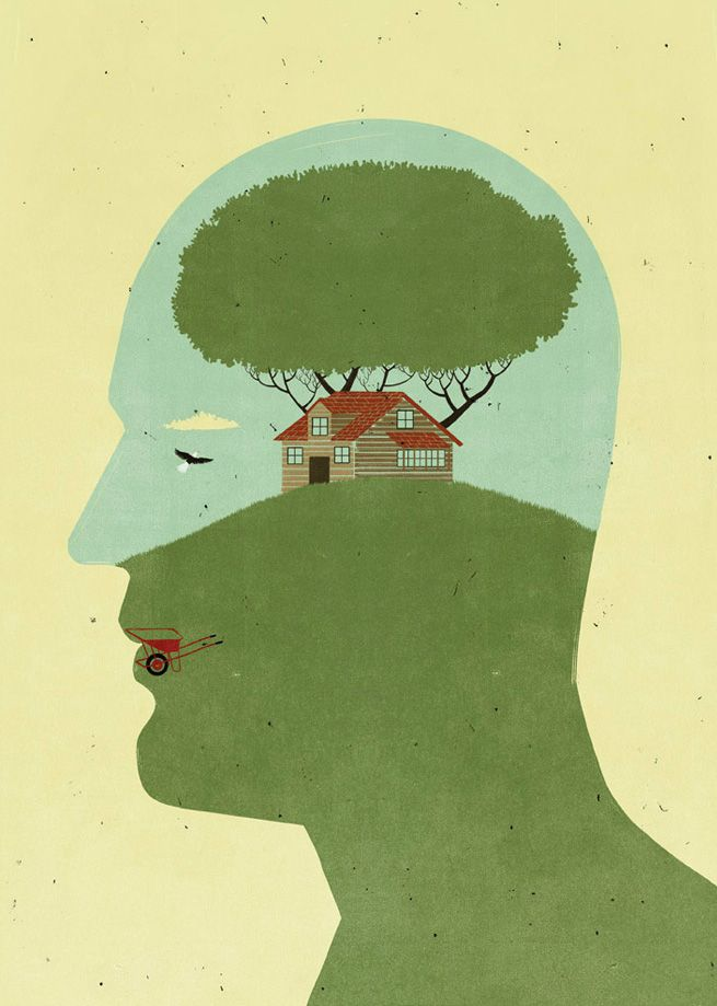 Cabin On My Mind, Illustration by SHOUT for Outside Magazine ::: www.dutchuncle.co.uk/shout-images