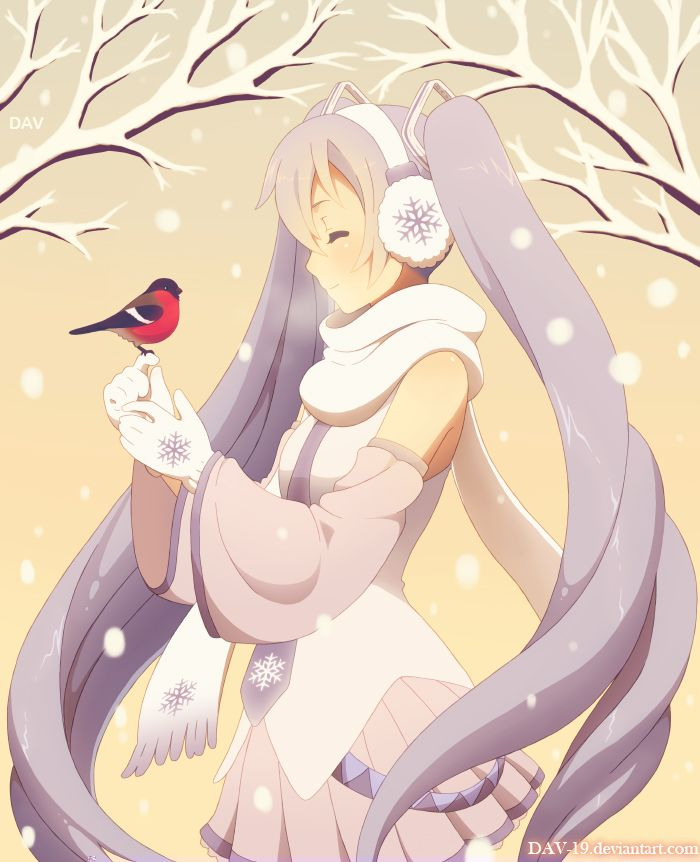 Snow Miku -- he loved the snow. Once he camped in the snow and the white monkeys ran away with everything!! It was so funny :)