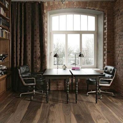 Oficina elegante y acogedora #oficina #ventana #elegancia #ideashabitissimo