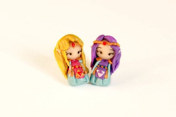 Princess Zelda earrings inspired by the popular di CandyDesignCrea