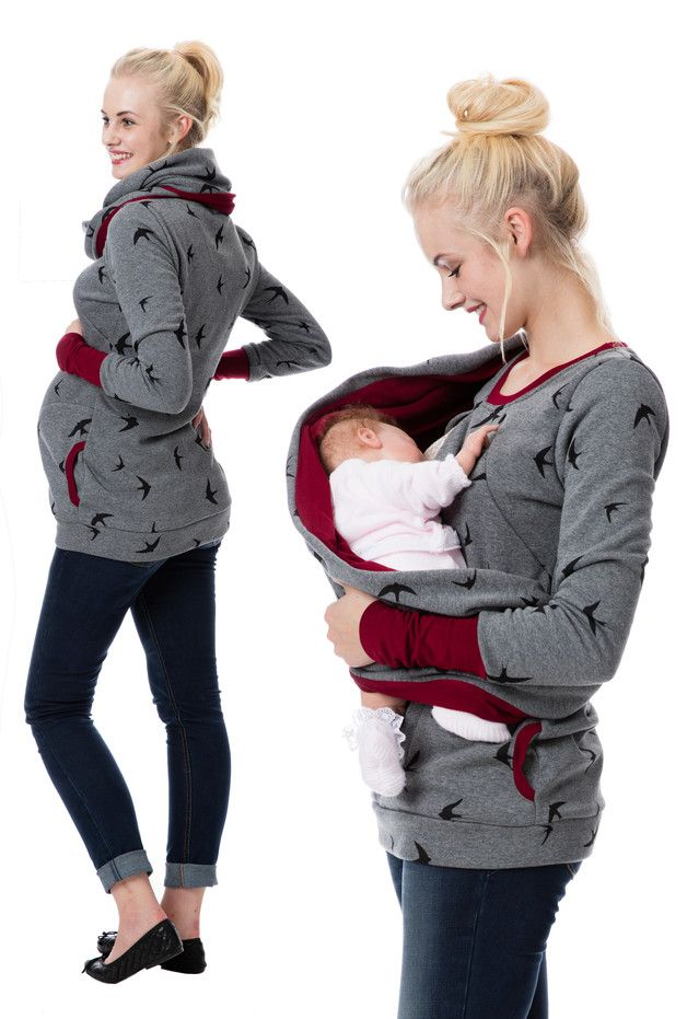 Mode für werdende und junge Mütter: Umstandspullover und Stillpullover in einem, Wohlfühlklamotten / fashion for young mothers: maternity pullover and sweatshirt while breastfeeding, comfy clothes made by GoFuture via DaWanda.com