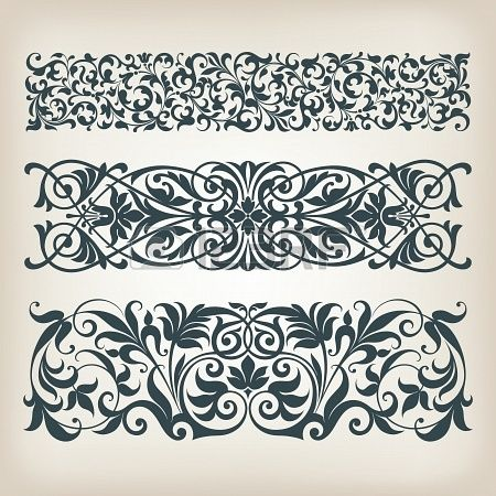 Baroque Ornament Border Borders Cartouches And Ornament