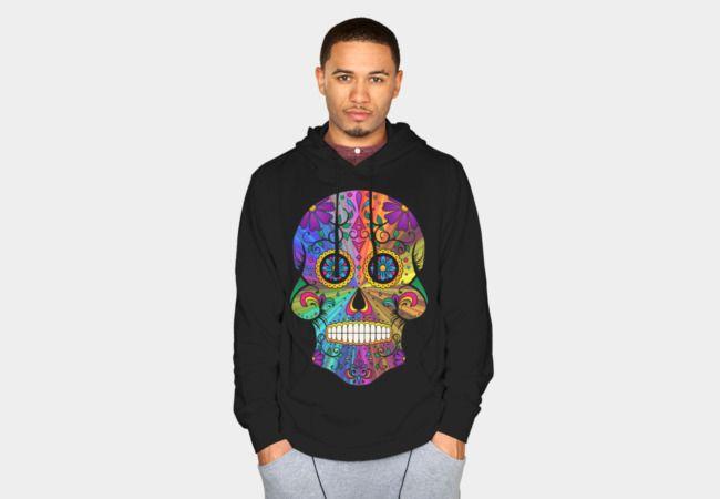 http://www.designbyhumans.com/shop/pullover-hoodie/psychedelic-calavera/155754/  #skull #sugarskull #retro #psychedelic #calavera #colourful #floral #ornamental #DBH #designbyhumans #Tees #shirts #Tshirts #hoodies #tanktops #phonecases #art #design #trending #fashion #DesignByHuman