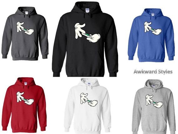 Unisex Mickey Mouse Disney Cartoon Hands ROLLING WEED HOODIE Sweatshirt Sweater Mens Xmas s-2xl on Etsy, $23.99