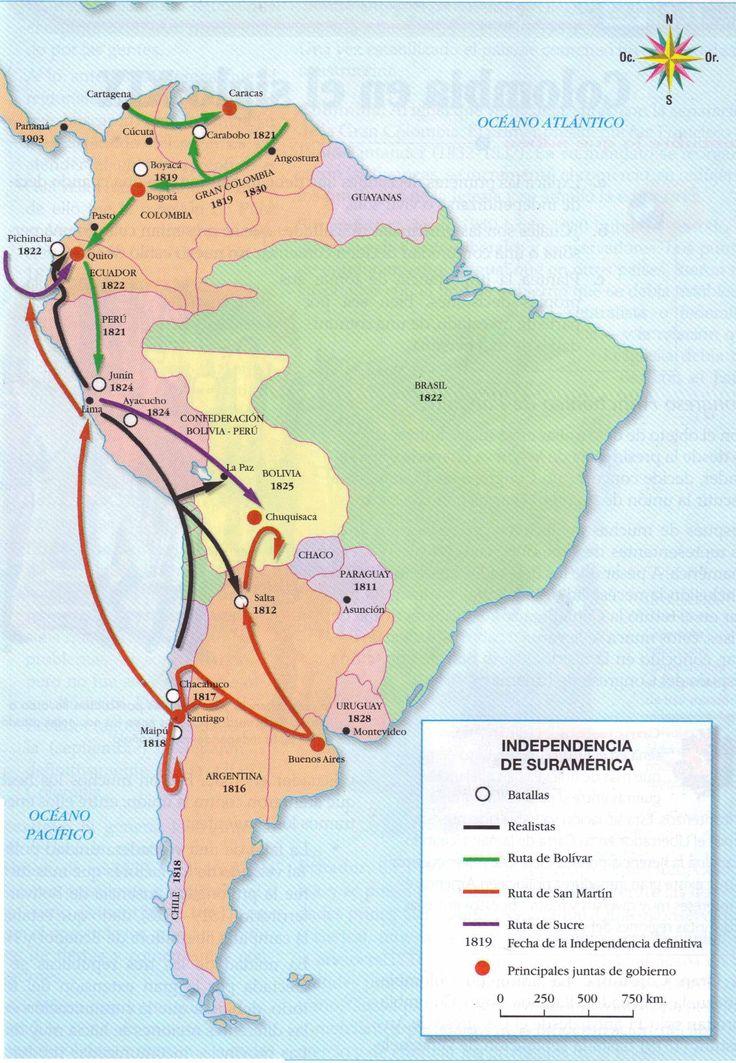HISTORIA Y GEOGRAFIA NIVEL MEDIO: LAS REVOLUCIONES EN AMÉRICA DEL SUR: 1815 - 1824