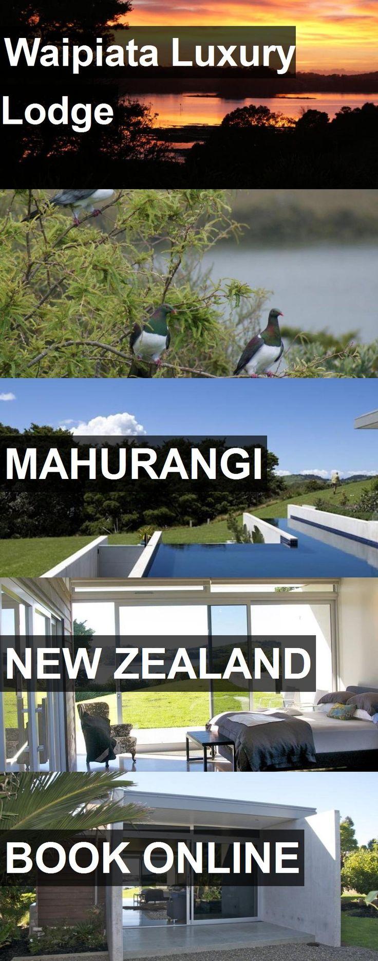 Hotel Waipiata Luxury Lodge in Mahurangi, New Zealand. For more information, photos, reviews and best prices please follow the link. #NewZealand #Mahurangi #travel #vacation #hotel
