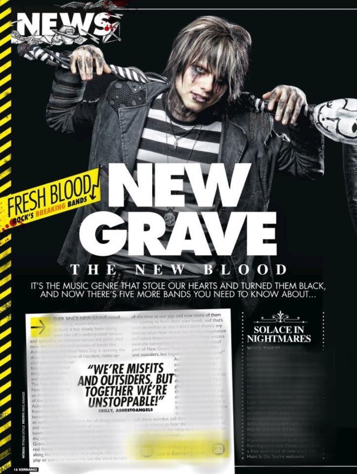 Luke Lucas in Kerrang! Magazine. #SiN #SolaceInNightmares #band #music #SiNSecrets #NewGrave #LukeLucas