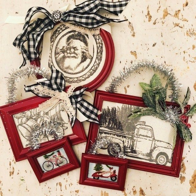 DIY Framed Ornaments The Shabby Tree (With images
