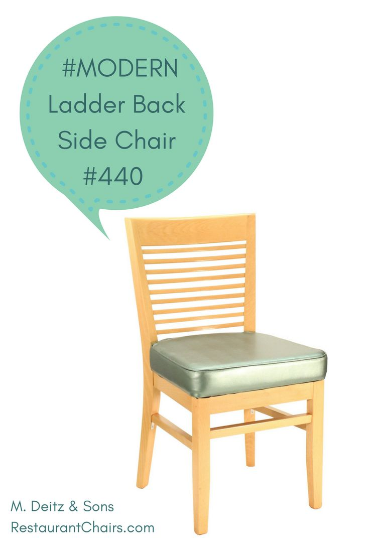 Modern restaurant chairs -  Modern This Beautifully Designed Ladder Back Restaurant Side Chair Is Contemporary And Versatile