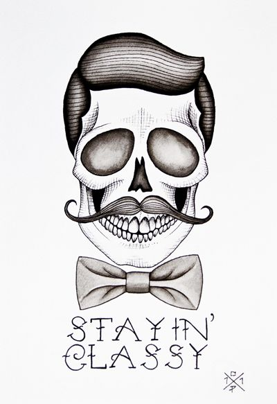 Skull drawings by Christina Platis