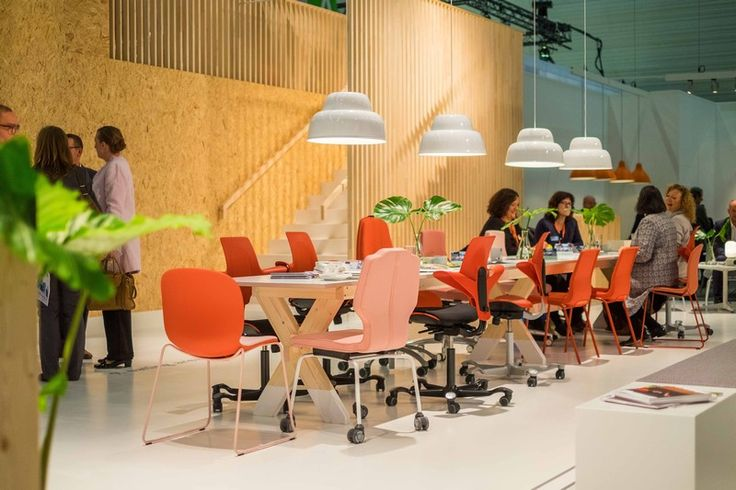 Mixing it up, RBM, RH and HÅG  chairs all together! - Orgatec 2016 #event #furniture #InspireGreatWork #design #Scandinavia #brands