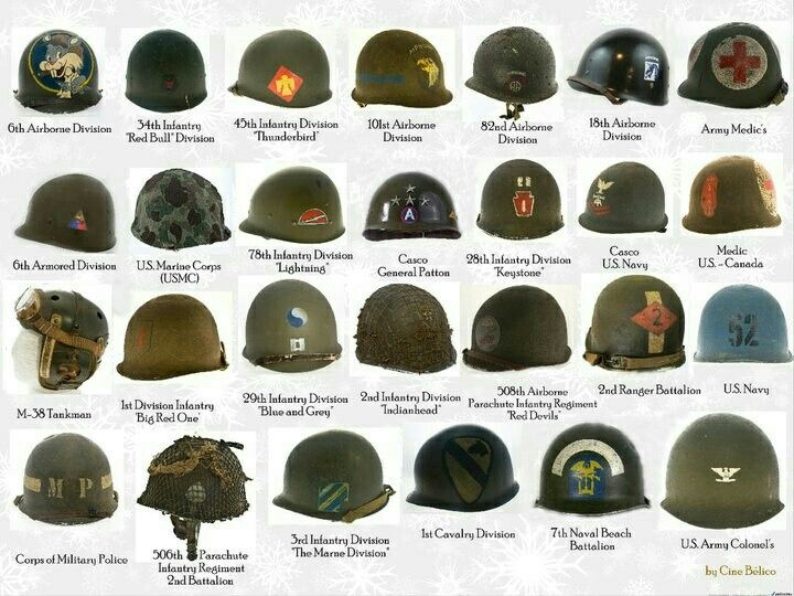 Cascos norteamericanos de la Segunda Guerra Mundial