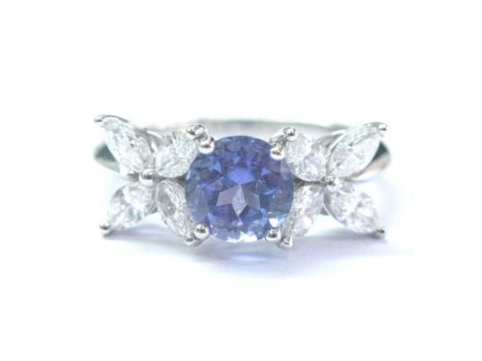 8ed30e101 Tiffany & Co. Tiffany & Co Platinum Victoria Diamond Tanzanite Ring ...