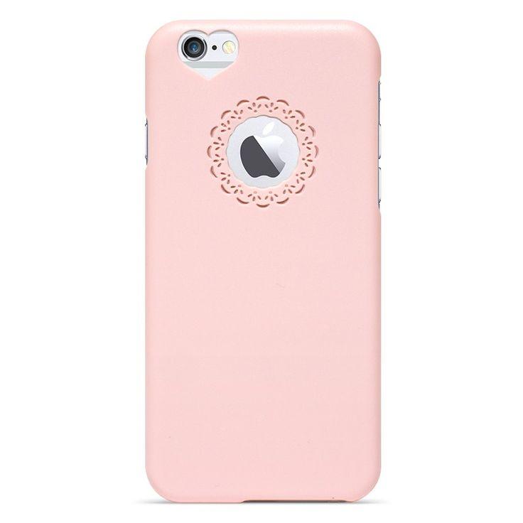 Kryt se srdcem a květinou pro iPhone 6 růžový #AllCases.cz #kryt #case #iphone #iphone6