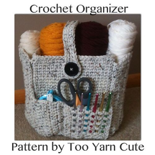 Ravelry: Crocheted Organizer Bag pattern by Too Yarn Cute