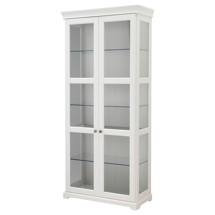LIATORP Glass-door cabinet - white - IKEA