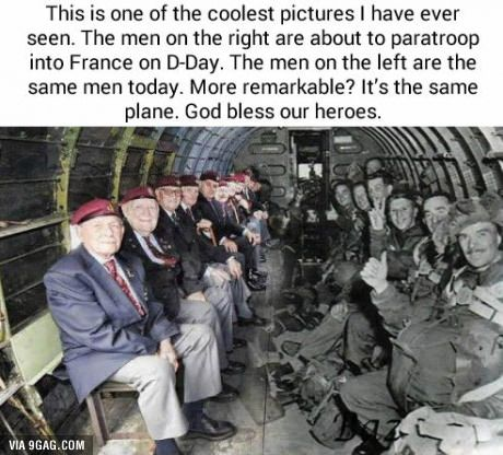 Actually I find that they're all there and survived is more remarkable than the fact that it's the same plane.