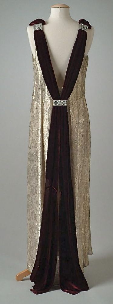 ~Dress (back view) -1934 -The Meadow Brook Hall Historic Costume Collection                                                                                                                                                                                                                                                                                                                              1930s~