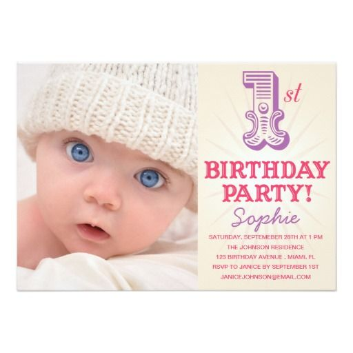 Personalised New Baby Or Birthday Card By Mint Nifty: 2245 Best 1st Birthday Party Invitations Images On