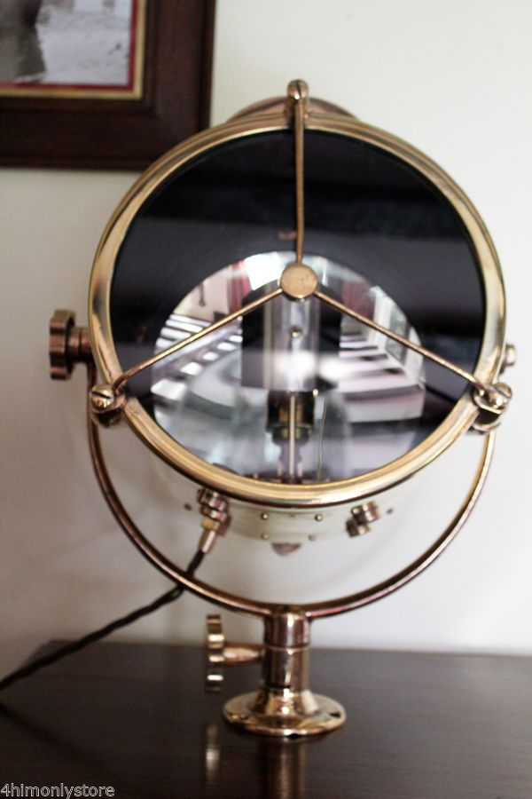 RARE Brass M13 Francis Searchlight 1969 Table Light Office Study Lamp | eBay