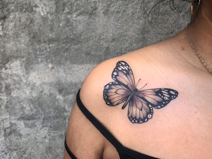 Ich habe ein neues Tattoo bekommen! Schmetterlingsbande 🦋