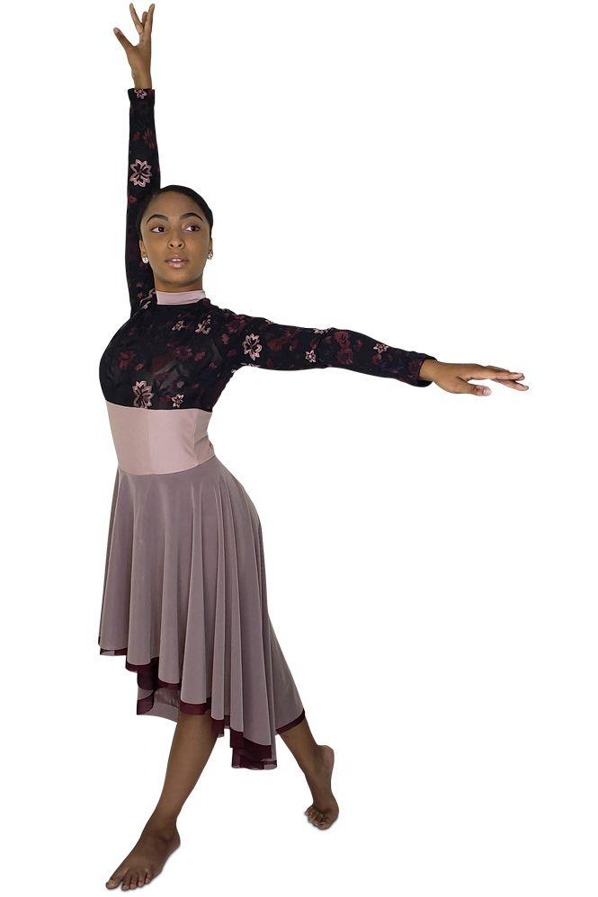 Dark Lyrical Dance Costume Dusty Rose Brand New 2019 Competition