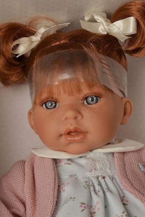 Realistická panenka Antonio Juan - holčička Any Dos Coletitas - zrzavé vlásky