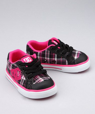 Take a look at this Black & Crazy Pink Plaid Sneaker by DC Shoes on #zulily today!