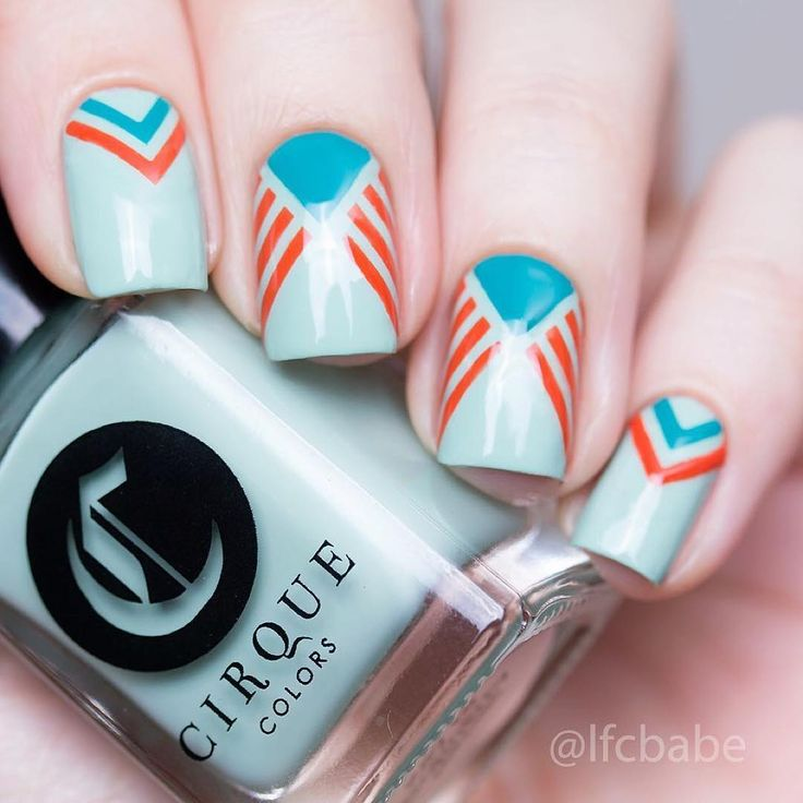 """Amazing nails by @lfcbabe using Whats Up Nails art deco stencils from…"