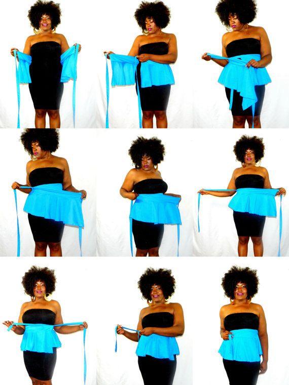 Peplum Belt Houndstooth sizes 2 26 by aconversationpiece on Etsy
